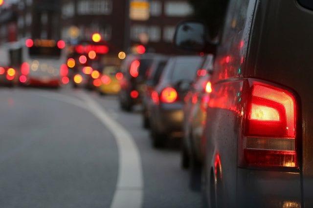 Foto von Autos im Stau
