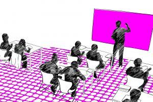 Illustration einer Schulklasse