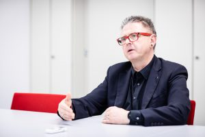 Interviewfoto von Handels-KV Verhandler Franz Georg Brantner
