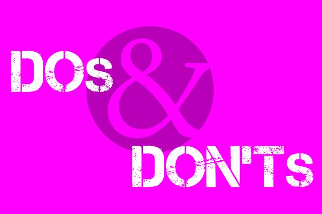 """Bild mit dem Schrifttext """"Dos & Donts"""" bei KV Verhandlungen"""
