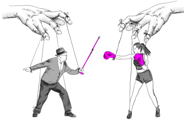 Illustration herbeikonstruierter Generationenkonflikt