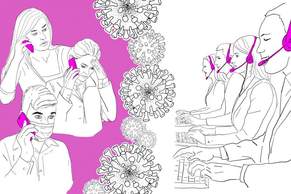 Illustration Corona Hotline
