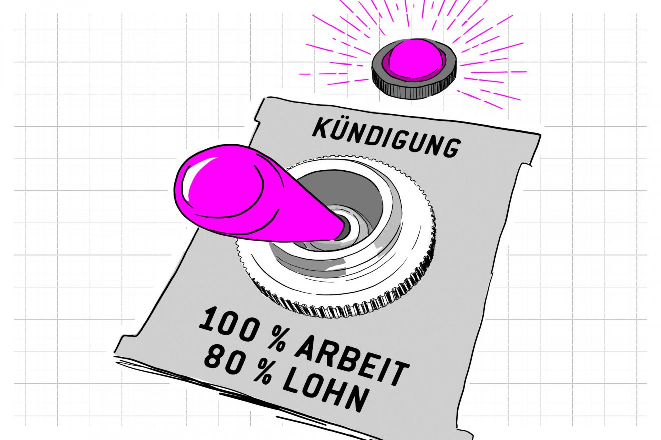 Illustration Kurzarbeit Missbrauch