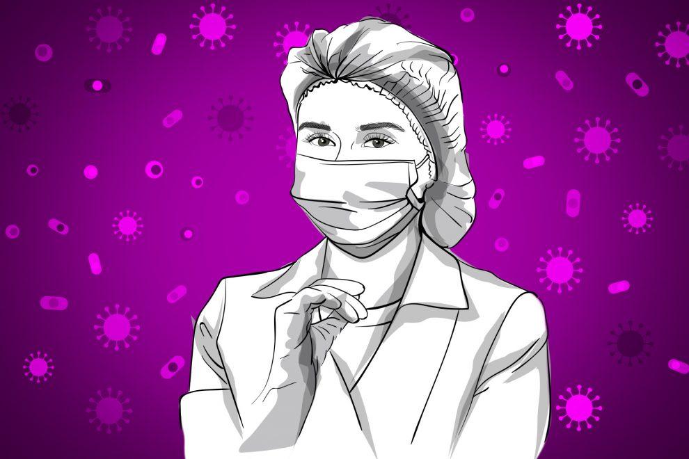 Illustration Krankenpflegerin