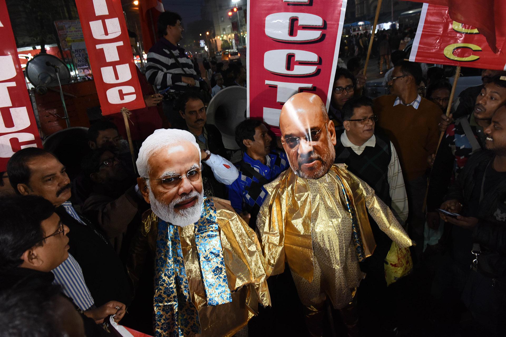 Proteste im Jänner 2020 gegen neue, diskriminierende Einbürgerungsgesetze der Regierung Modi.