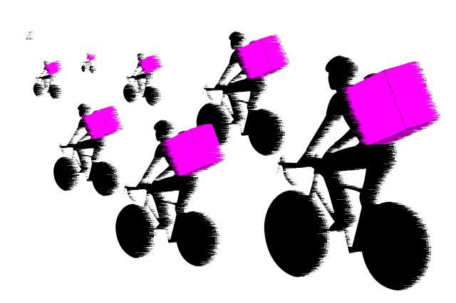 Illustration Fahrradboten