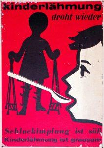 Historisches Plakat zur Polio-Impfung