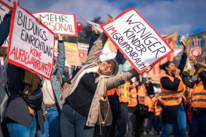 Kindergärten: Demonstration der Pädagoginnen am 12.10.21 in Wien